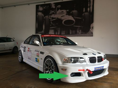 Air inlet M3 e46 Brakecooling